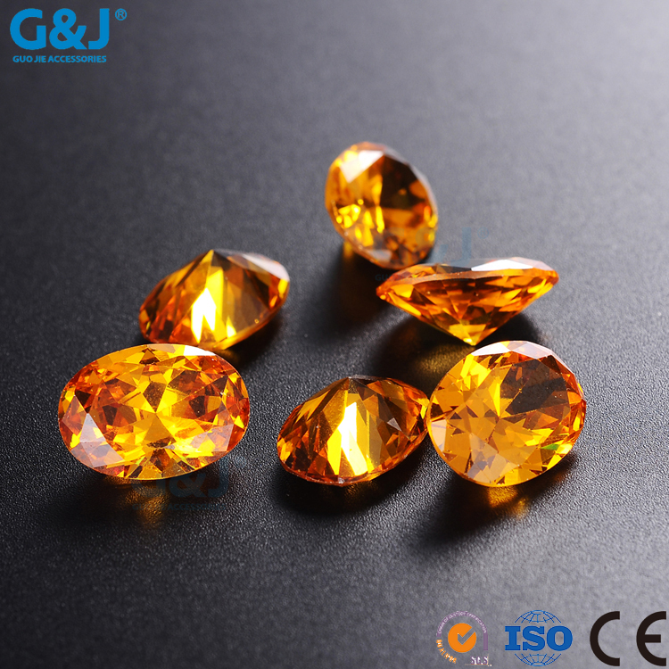 guojie brand Wholesale rhinestone Oval Shape chaton Factory Crystal Zirconia For Clothing Accessory