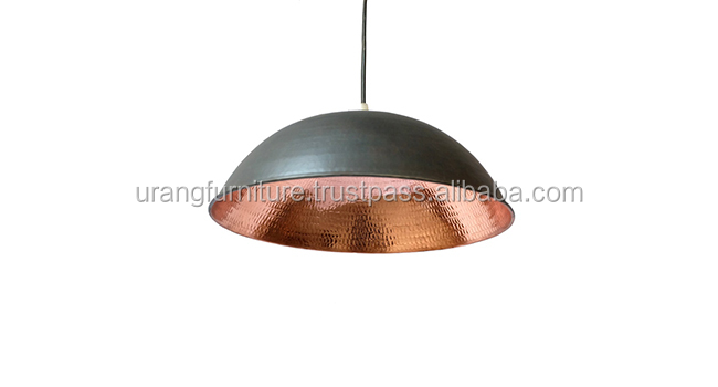 High quality pendant lamp aged Copper hanging Light classic copper led pendant light in indonesia bokor hanging lamps