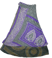 Indian Reversible Two Layer Silk Wrap Skirt For Women