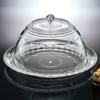 Acrylic transparent covered cake plate with dome