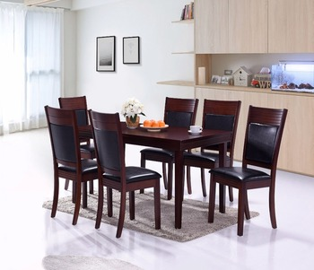 backrest with line design dining set