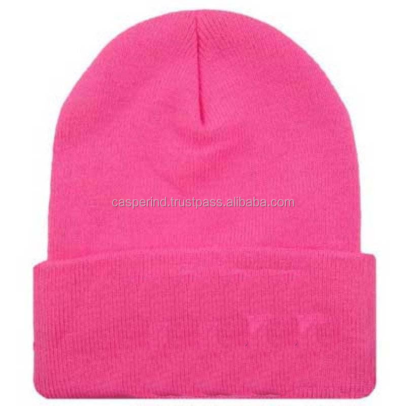 Beautiful women hot pink Winter Beanie hat for Sale
