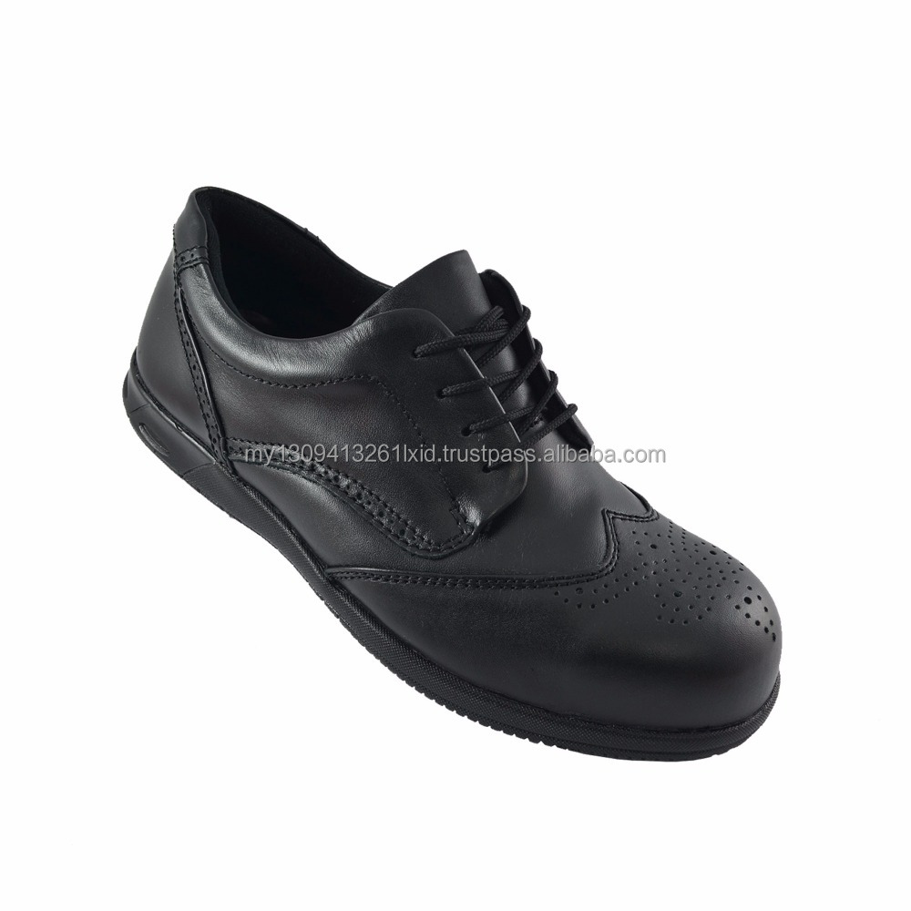 Walk About Executive safety shoes (Genuine Cow Leather) 3001 18 SB P HRO (Black 18)