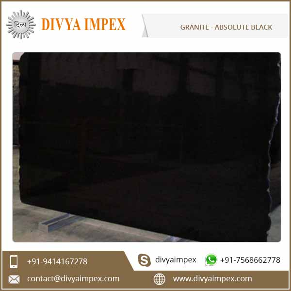 Polished Cut to Size Absolute Black Granite Price Per Square Meter