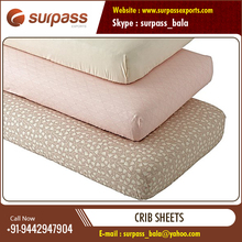 Wide Range of Cotton Crib Sheet Available for Wholesale Export