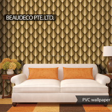 modern pvc vinyl wallcovering 3d wallpaper home decoration 3d from china