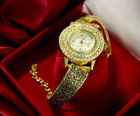 Beautiful ladies brass women wrist analog watch