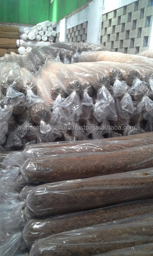 Coconut Coir Geotextiles / Coir fiber Logs for Soil and Water Erosion