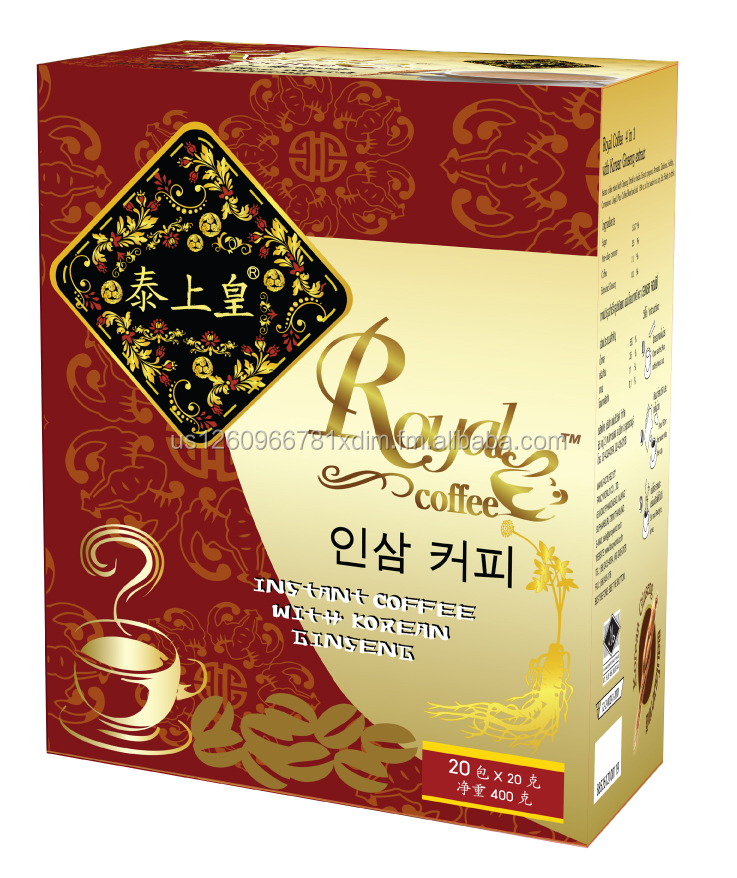 "4in1 Instant Coffee Powder With Ginseng Extract ""Royal - Coffee"""