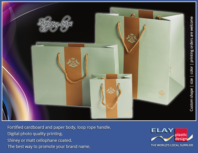 Retail bags carton paper luxury design