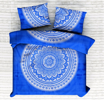 Ombre Mandala Duvet Cover Set Indian Beautiful Quilt Cover Comforter Set Doona Cover With Pillow Cover