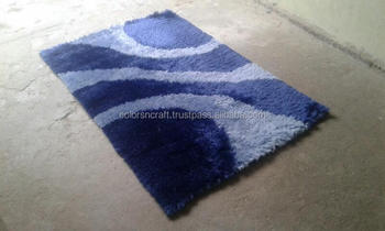 latest design and style blue designer polyester rug