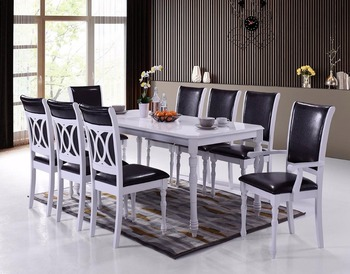 classical white special backrest dining set