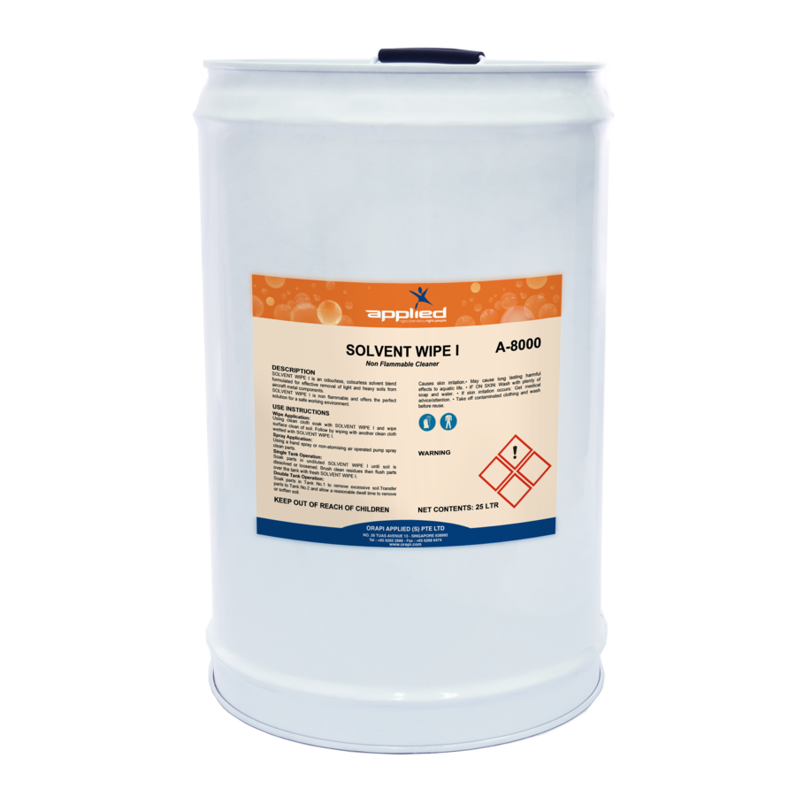 SOLVENT WIPES I - AIRCRAFT COMPONENT CLEANER