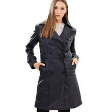 Womens Vegan Leather Trench Coat 'Irene'