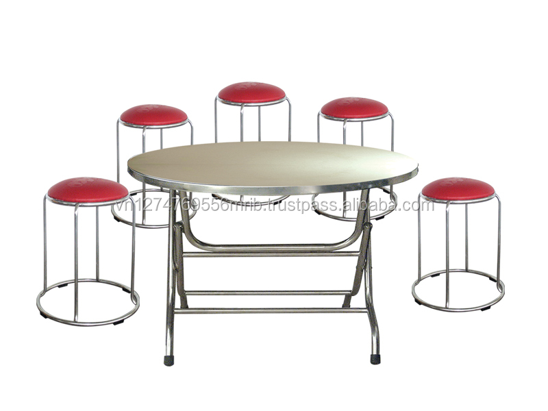 Manufacturer stainless steel S/S 201 table and chair furniture