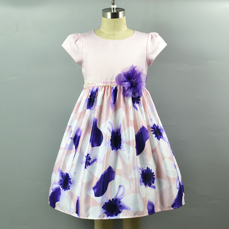 high quality birthday dress for children princess girls floral tutu dress high quality baby girl dress patterns