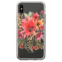 High Quality Transparent TPU Phone Case for iPhone X 10 Plus with Floral Printing Wholesale OEM Custom