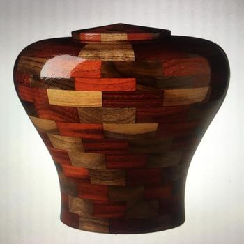Artistic Wood Work Funeral Urnas Urns in Factory Best Price