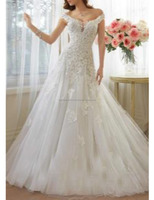 Lace Fairytale Illusion Evening elegance layerd bridal gown