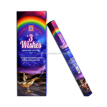 Indian Charcoal Incense Sticks Agarbatti 3 Wishes