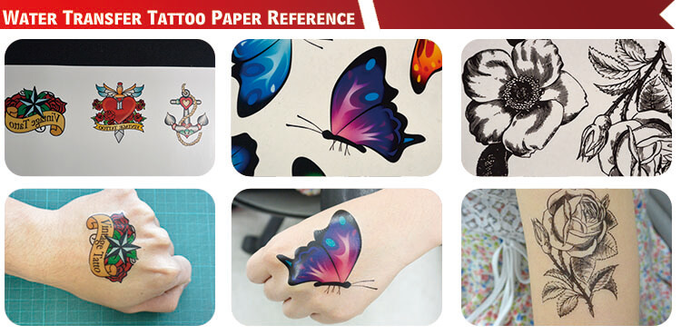 Body Inkjet Water Transfer Temporary Tattoo Paper