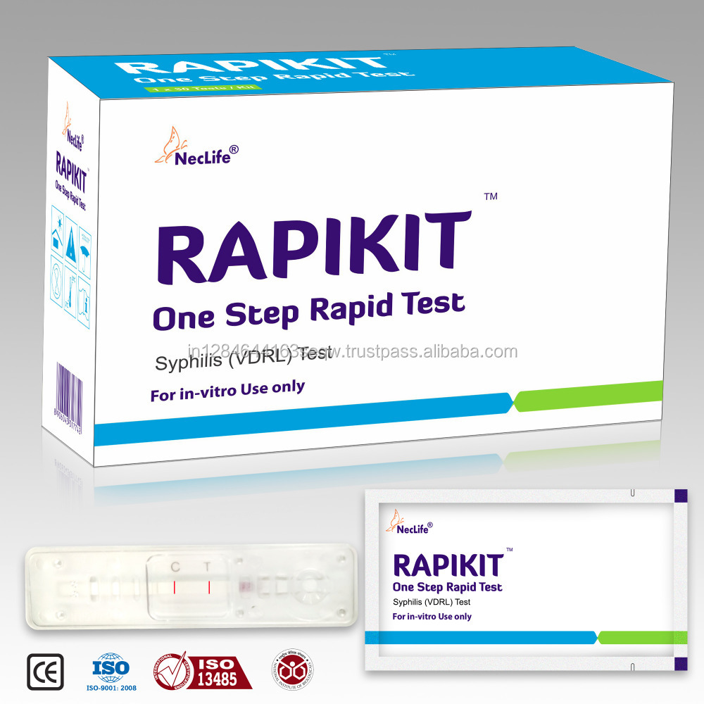 Syphilis Test VDRL Rapid kit /card / cassette /device /One step/wholesale/ Private Label/ OEM/ In Vitro/ Top Quality