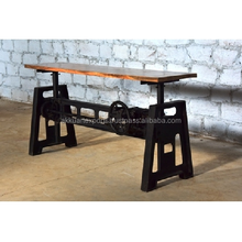 Industrial dining room furniture ; Iron and wood table