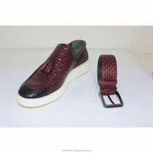 Dark Red Men Loafers Made in Turkey Leather Shoes Handmade