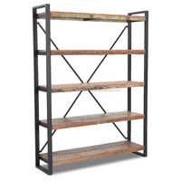 Rustic Industrial Style Furniture Shelf Reclaimed Wood Bookcase