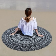 Indian home furnishing mandala tapestry round table cloth