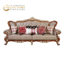 Classic Baroque Arab Mahogany Hand carved Living Room Sofa Furniture