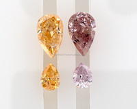 1.33 Natural Diamond Pear Shape GIA Certificat Fancy Intense Color Orange and Purple Pink