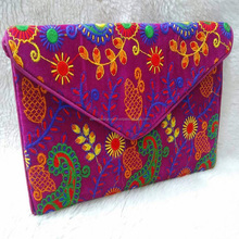 indian embroidery clutch bag rajasthan mirror hand work tote women hand bag