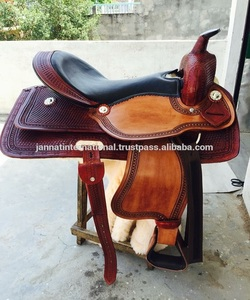 Leather Western Saddle Hand Carved & Hand Tooled