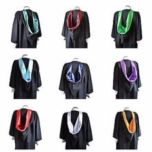 "Black Graduation Gown And Fitted Mortarboard Cap University Bachelors Robe[5'11"" - 6'.2"",Medium 55-57 cm around head]"