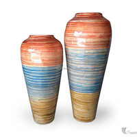 Natural bamboo lacquer vase/ bamboo wooden vase for home decoration