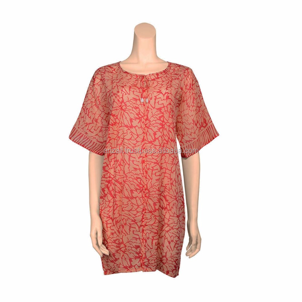 [Arizali] Premium Sundress Cotton Batik Beachwear Dresses F-370-2B