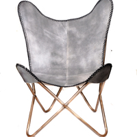 Genuine Quality Leather Butterfly Chair