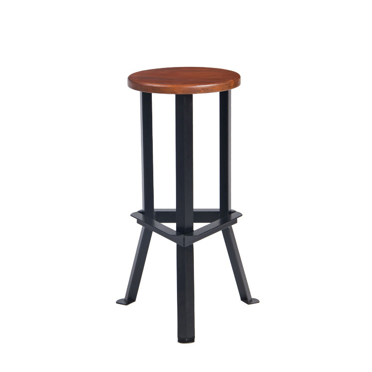 Triumph metal bar stool high chair / vintage industrial metal chair / Youngston wood bar stool for bar restaurant