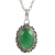 Green onyx gemstone pendant handmade 925 sterling silver jewelry fine wholesale silver pendants exporters