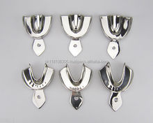 DENTAL IMPRESSION TRAYS NON PERFORATED Set Of 8Pcs