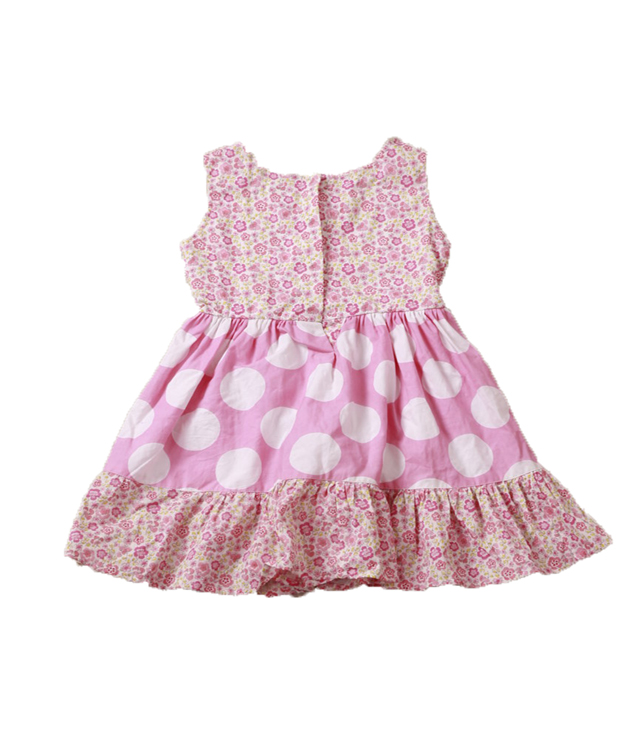 dot printed kid dress colorful frocks for child girl cotton girl dress birthday kid