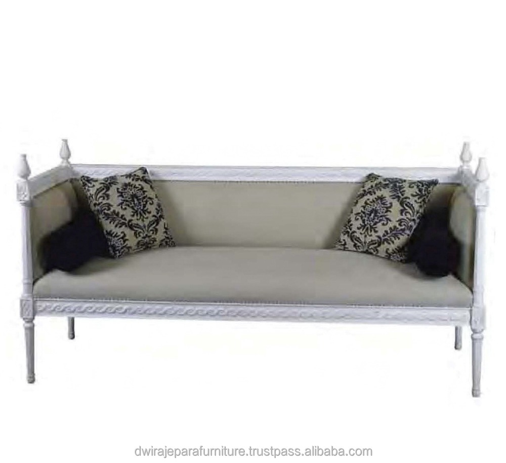 Home Furniture - Wooden Mahogany Daybed Sofa Bench French Style Home Furniture