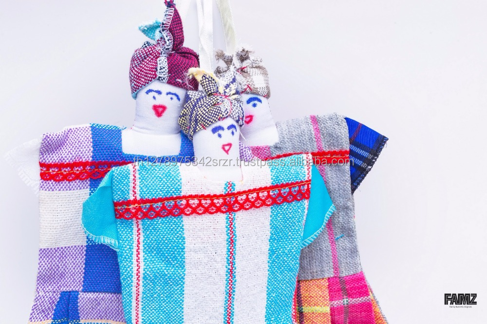 Handmade Towel with Doll Design, Product of Thailnd