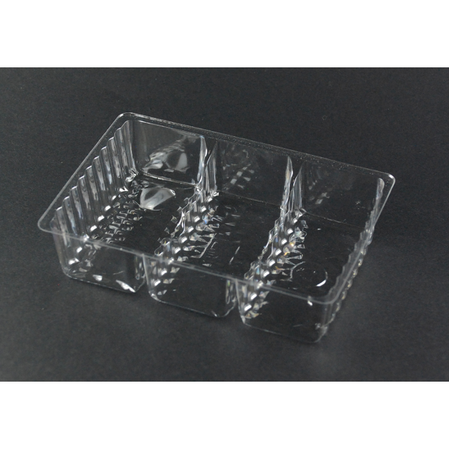 Disposable BOPS Food Packaging 3 Cavity Compartment Inner Tray