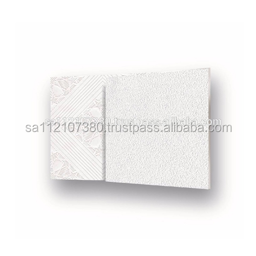 2018 High Quality Fireproof PVC Laminated Vinyl Coated Gypsum Ceiling Tiles