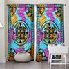 New Multi Color Elephant Fabric Printed Window/Balcony Curtains