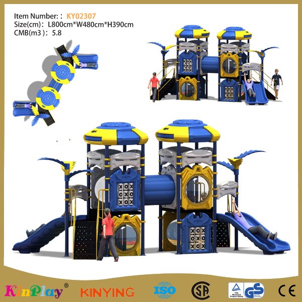 KINPLAY brand factory price wholesale children straight tube outdoor playground equipment slide