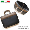 Genuine Crocodile Leather Alligator Skin Caiman Luxury High End Laptop Messenger Bag Office Business Made in Italy